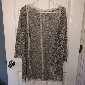 Maurices Black and tan women's cardigan